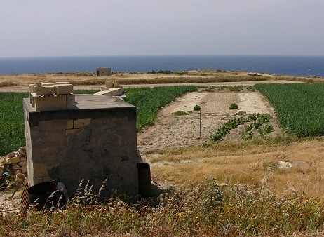 Typical clap-net trapping site (here on Malta)
