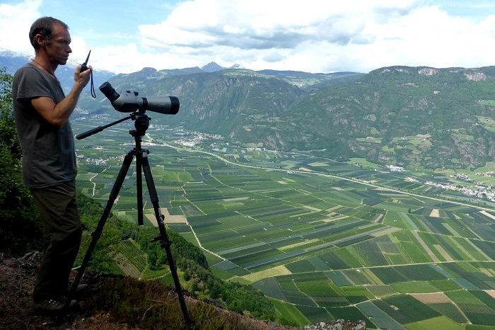 CABS observation post - high above the orchards of Bolzano
