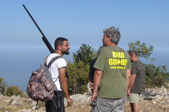 CABS member in conversation with a Lebanese hunter